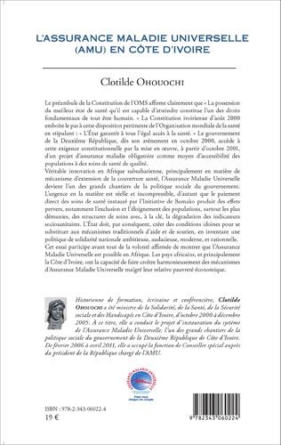4eme L'assurance Maladie Universelle (AMU) en Côte d'Ivoire