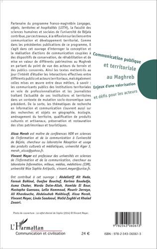 4eme Communication publique et territoriale au Maghreb