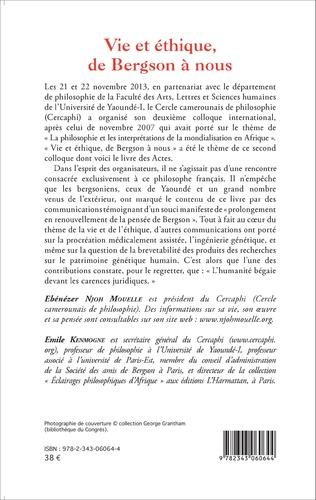 4eme Vie et éthique, de Bergson à nous