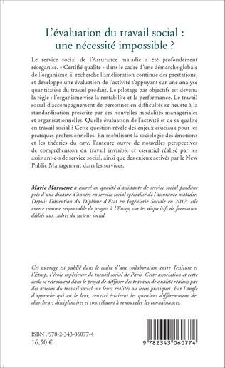 4eme L'évaluation du travail social : une nécessité impossible?