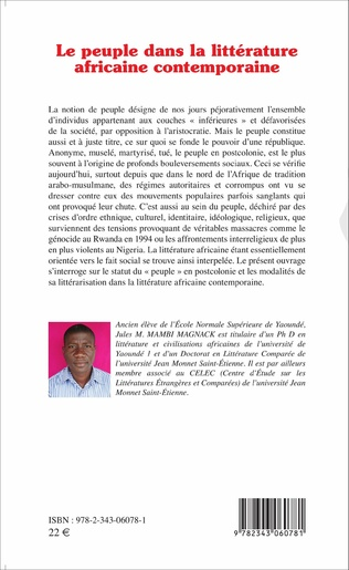 4eme Le peuple dans la littérature africaine contemporaine