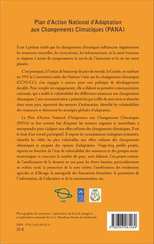 4eme Plan d'Action National d'Adaptation aux Changements Climatiques (PANA)