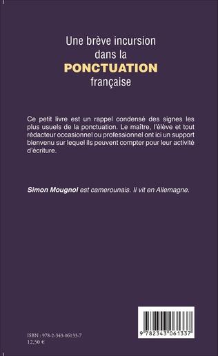 4eme Une brève incursion dans la ponctuation française