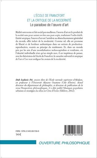 4eme L'École de Francfort et la critique de la modernité