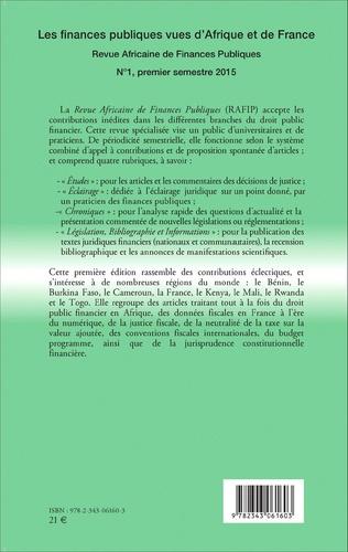 4eme Les finances publiques vues d'Afrique et de France
