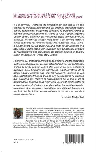 4eme Les menaces émergentes à la paix et à la sécurité en Afrique de l'Ouest et du Centre : de 1990 à nos jours