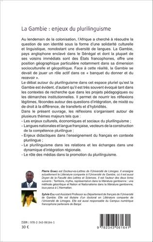 4eme La Gambie : enjeux du plurilinguisme Tome 2