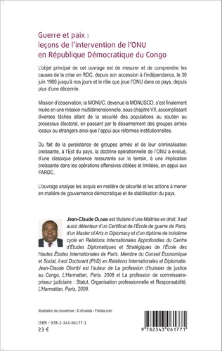 4eme Guerre et paix: leçons de l'intervention de l'ONU en République Démocratique du Congo