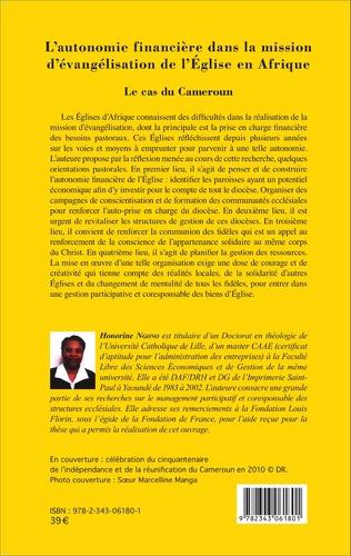 4eme L'autonomie financière dans la mission d'évangélisation de l'Église en Afrique