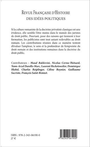 4eme Revue française d'histoire des idées politiques - 41