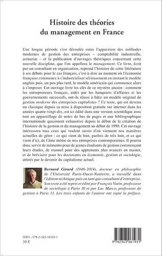 4eme Histoire des théories du management en France