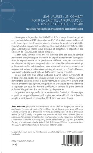 4eme Jean Jaurès : un combat pour la laïcité, la République, la justice sociale et la paix