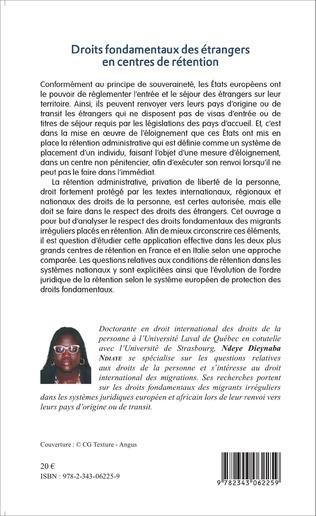 4eme Droits fondamentaux des étrangers en centres de rétention