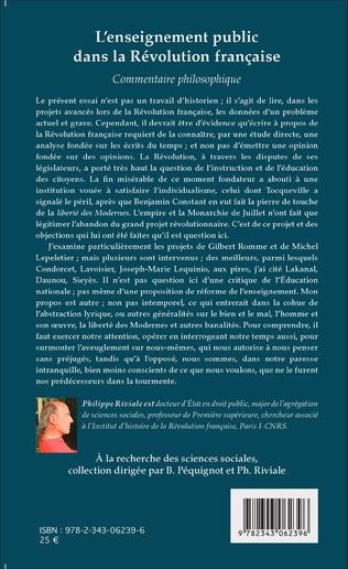4eme L'enseignement public dans la Révolution française