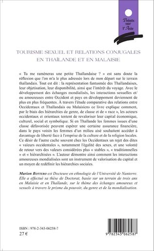 4eme Tourisme sexuel et relations conjugales en Thaïlande et en Malaisie