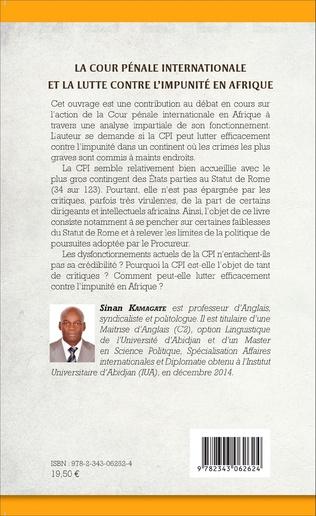 4eme La cour pénale internationale et la lutte contre l'impunité en Afrique