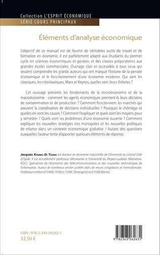 4eme Eléments d'analyse économique