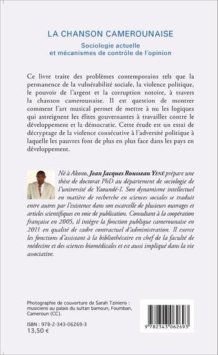 4eme La chanson camerounaise