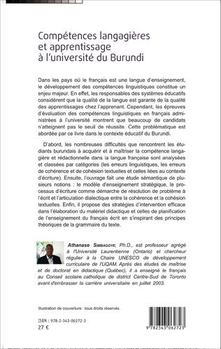 4eme Compétences langagières et apprentissage à l'université du Burundi