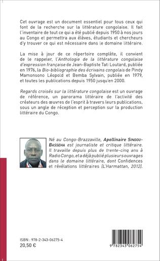 4eme Regards croisés sur la littérature congolaise
