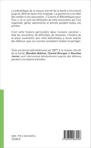 4eme Des bibliothécaires en prison : carnets de santé