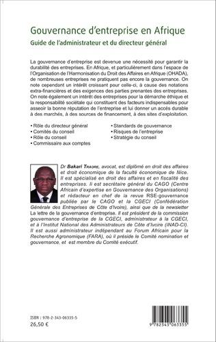 4eme Gouvernance d'entreprise en Afrique