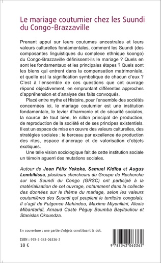 4eme Le mariage coutumier chez les Suundi du Congo-Brazzaville