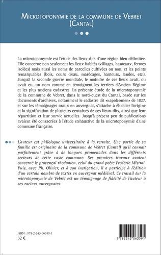 4eme Microtoponymie de la commune de Vebret (Cantal)