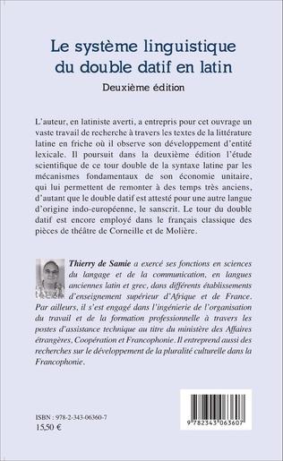 4eme Le système linguistique du double datif en latin