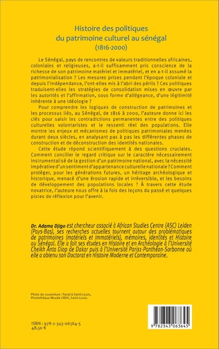 4eme Histoire des politiques du patrimoine culturel au Sénégal (1816-2000)