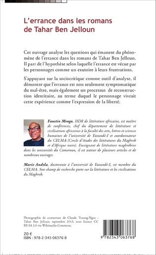 4eme L'errance dans les romans de Tahar Ben Jelloun