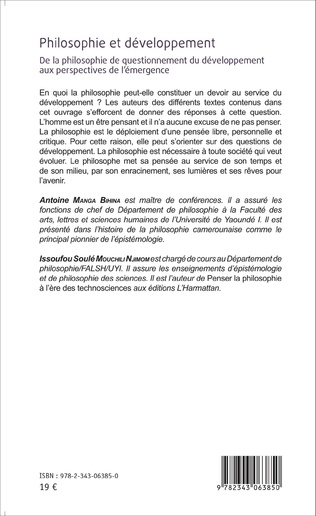 4eme Chapitre VI. TECHNOSCIENCE ET PHILOSOPHIE : LA QUESTION DU DEVELOPPEMENT DE L'AFRIQUE CHEZ MARCIEN TOWA