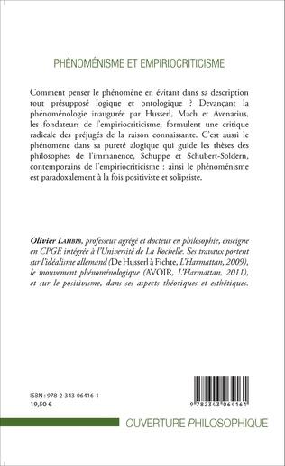 4eme Phénoménisme et empiriocriticisme
