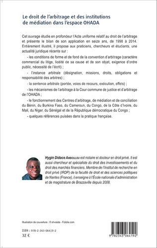 4eme Le droit de l'arbitrage et des institutions de médiation dans l'espace OHADA
