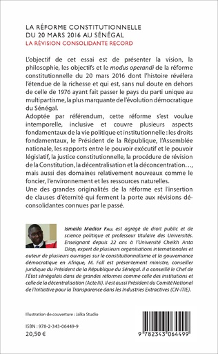 4eme La réforme constitutionnelle du 20 mars 2016 au Sénégal