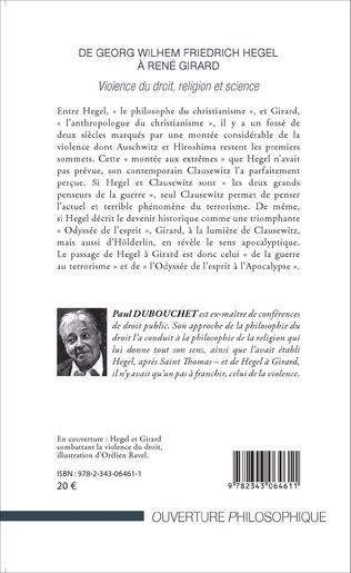 4eme De Georg Wilhem Friedrich Hegel à René Girard