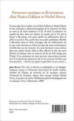 4eme Naissance mystique et divinisation chez Maître Eckhart et Michel Henry