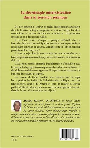 4eme La déontologie administrative dans la fonction publique