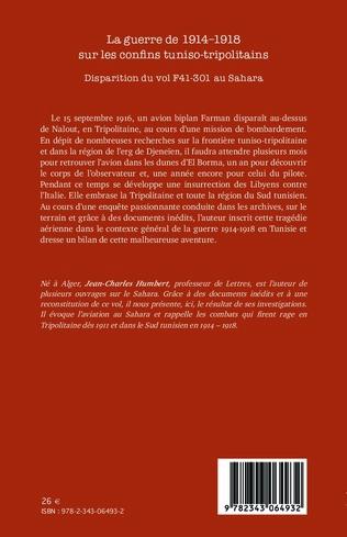4eme La guerre de 1914-1918 sur les confins tuniso-tripolitains