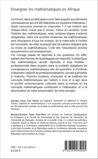 4eme Enseigner les mathématiques en Afrique
