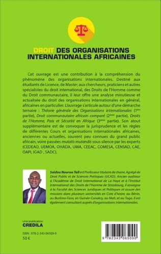 4eme Droit des organisations internationales africaines