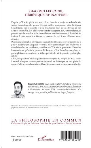 4eme Giacomo Leopardi, hérétique et inactuel