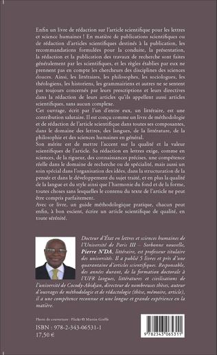 4eme L'article scientifique en lettres, langues, arts et sciences humaines
