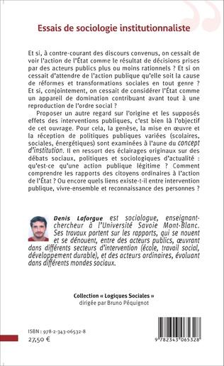 4eme Essais de sociologie institutionnaliste