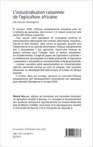 4eme L'industrialisation raisonnée de l'agriculture africaine