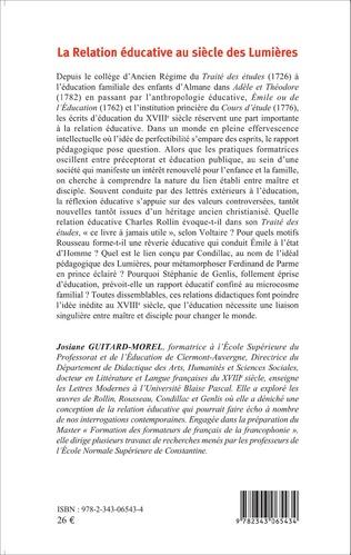 4eme La Relation éducative au siècle des Lumières