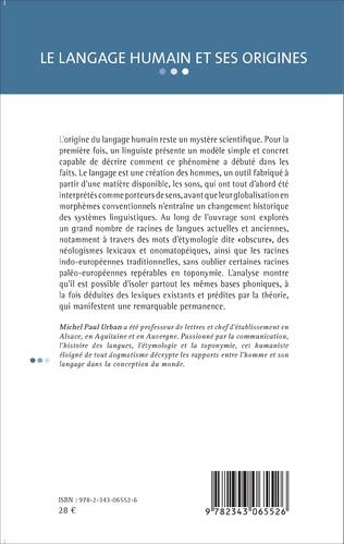4eme Le langage humain et ses origines