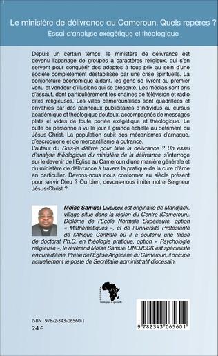 4eme Le ministère de délivrance au Cameroun.