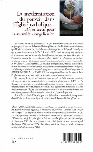 4eme La modernisation du pouvoir dans l'Église catholique :