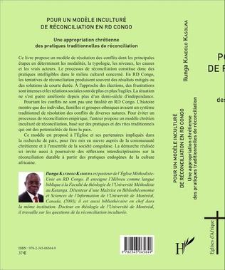 4eme Pour un modèle inculturé de réconciliation en RD Congo